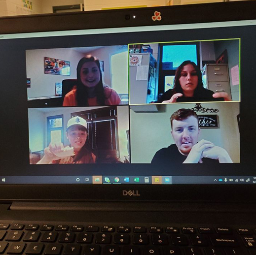 Minnick School students video chat with teachers and staff